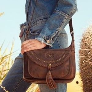 Patricia Nash Leather Boho Camila Handbag Purse